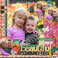 "1. Kit: ""Fabulous Fall"" by Jenn Barrette and Zoe Pearn  2. ""Art & Soul Alpha: Brights"" by Julie Billingsley  3. Template: ""Half Pack #57"" by Cindy Schneider"