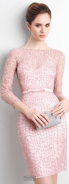 So Classy !Perfect Pink Dress : Sober, Elegant and Refined But In… Lovely Dresses, Beautiful Outfits, Dress Skirt, Dress Up, Mode Rose, Short Dresses, Formal Dresses, Pink Dresses, Pink Fashion