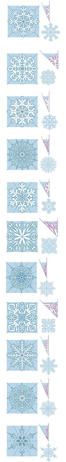 Snowflake cutting designs
