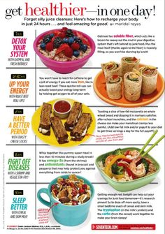 angelafitness:  Seventeen Magazine 1 day healthy detox