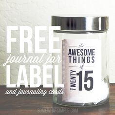 Our family Journal Jar Kit is the perfect way to document awesome things that happen during the year! A great family journal you will LOVE! Journal Jar, Gratitude Jar, Pocket Page Scrapbooking, New Years Eve Food, Sketch Notes, New Year Celebration, Scrapbook Journal, Food Crafts, Sobriety