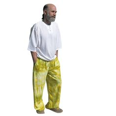 Unisex Wide Leg Pants  Green and Yellow