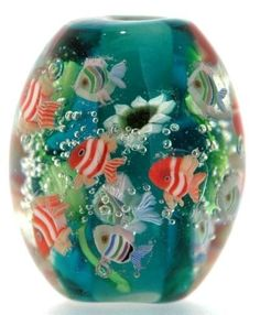 Shirley Sea World Lampwork Japanese Satake Glass Focal Bead SRA Handmade #Shirleydesign