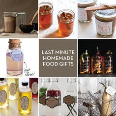 Great collection of last minute homemade kitchen gifts