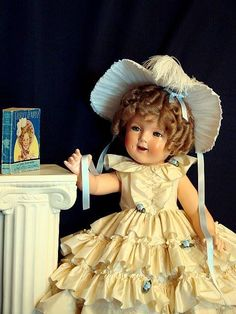 Shirley Temple in vintage Little Colonel dress. Photograph courtesy of her 'mommy'