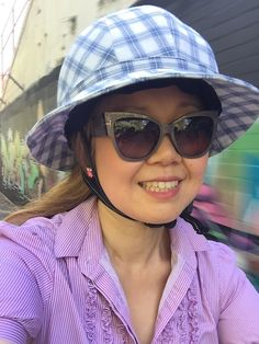 Sarah's entry #tessutiskylinescomp Cycling Wear, Competition, Helmet, Hats, How To Wear, Fashion, Moda, Hat, La Mode