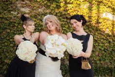 Posy, Modern White wedding, orchids roses callas hydrangea, outdoor ceremony, Columbus Ohio, Northbank Park