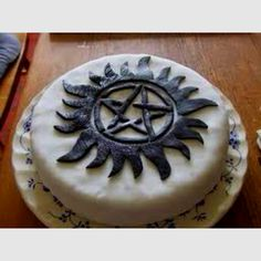 Supernatural pentagram cake