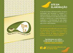 Página Provisória: Tom de Lá || www.tomdela.com.br