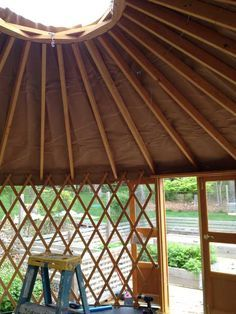 How to raise a yurt in four hours - from Apartment Therapy