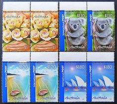 Australian Decimal Stamps: 2005 Marking the Occasion - Set 4 x 2 with Tabs MNH
