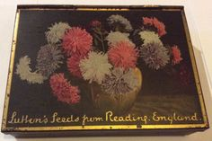 Vintage Suttons Of Reading Vegetable & Flowers Seed Tin