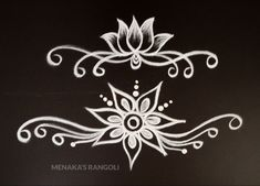 Easy Border Rangoli Design For Diwali Rangoli Side Designs, Simple Rangoli Border Designs, Rangoli Designs Latest, Rangoli Borders, Free Hand Rangoli Design, Small Rangoli Design, Rangoli Designs Diwali, Rangoli Designs With Dots, Beautiful Rangoli Designs