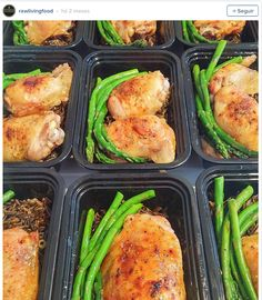 Pin for Later: 21 Simple Meal Prep Combinations Anyone Can Do Chicken + Asparagus + Wild Rice(Bake Rice Meals) Diet Recipes, Cooking Recipes, Healthy Recipes, Diet Meals, Vegan Meals, Quick Healthy Meals, Easy Meals, Clean Eating, Healthy Eating