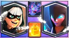 BANDIT DARK WITCH BATS & HEAL  4 NEW CLASH ROYALE CARDS!