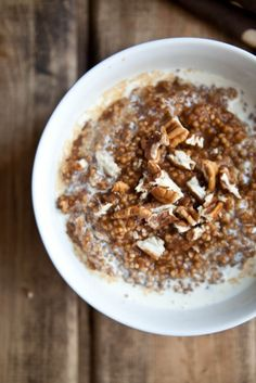 pumpkin pie millet with pecans ....mmmm make it in a crockpot http://www.kristinaskitchen.org/millet