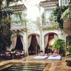 pool courtyard