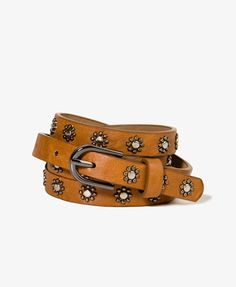 Studded Floral Hip Belt | FOREVER21 - 2035512274