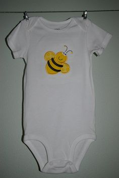 Bumble bee onesie made to order by CozyOBaby on Etsy, $11.25