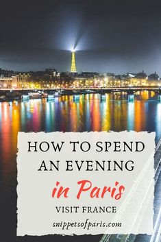 With plenty of things to do in Paris at night, you will have a hard time choosing! We cover where to go out and what to do in an evening in Paris.  #france    Things to do in Paris   Going out at night   Nightlife   Bars   Restaurants   Attractions at night   Where to go at night