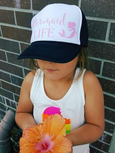 Items similar to Child trucker hat ~ Cute trucker hat ~ Adult Snapback Hat  ~ Kids Truck Hat ~ Mermaid Trucker Hat ~ Mermaid Summer Hat on Etsy 5dd3e8ed404