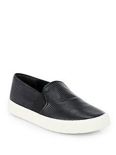 Vince Blair Perforated Leather Laceless Sneakers