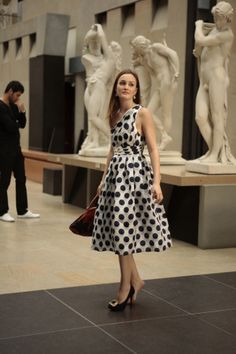 polka dots dress is classic in black and white