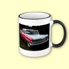 http://www.zazzle.com/pink_and_white_chevrolet_mug-168860309502171113?gl=Rosemariesw=238739306683447883 A pink and white Chevrolet.