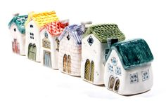 teeeeensy ceramic houses