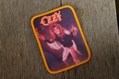 Vintage Ozzy Osbourne Patch by SuperfineThings on Etsy