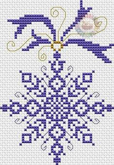 Christmas snowflake cross stitch.