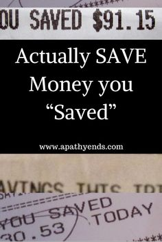 "Figure out a way to actually save the money you ""saved"" when shopping for essentials."