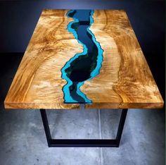 Diy Resin Table, Epoxy Table Top, Epoxy Wood Table, Epoxy Resin Table, Slab Table, Diy Resin Art, Diy Resin Crafts, Wooden Tables, Diy Resin Coffee Table