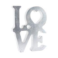 Silver Love Accesorio Decorativo de Madera Maple - Plateado