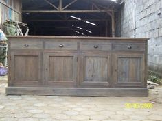 Gray Washed Wood Furniture | Everglade dressoir, rustic wood grey patine In Woods Drawers