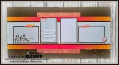 (layout 7 of 7 - pages 13 & 14)).... Workshop by Susan Williams using CTMH Happy Times paper