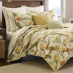Tommy Bahama Birds of Paradise Tropical Quilt Bedding Tropical Bedroom Decor, Tropical Bedrooms, Coastal Decor, Tropical Decor, Queen Comforter Sets, Bedding Sets, Tommy Bahama, Tropical Quilts, Tropical Bedding