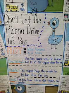 in First Grade: Teaching comprehension with Don't Let the Pigeon Drive the Bus!Life in First Grade: Teaching comprehension with Don't Let the Pigeon Drive the Bus! Teaching Plot, Teaching Reading, Guided Reading, Teaching Ideas, Reading School, Reading Tips, Early Reading, Teaching Time, Shared Reading