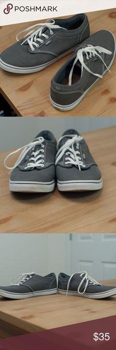 aa2bbc86af Old School Vans Gray Sneakers EUC Old School Vans Gray Sneakers EUC. No  sign of
