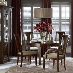 Cosmopolitan Round Dining Table by Bassett Furniture Traditional Dining Room Other by Here we have nice photo about bassett dining room. Dining Decor, Dining Room Design, Dining Room Chairs, Side Chairs, Dining Rooms, Dining Area, Hudson Furniture, Round Dining Table, Kitchen Tables