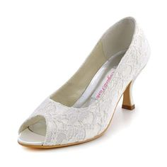 """"""" Wedding Heels for women Classic Ivory Lace Wedding Shoes for bride Comfortable Medium Heel Bridal Shoes for Women Wedding Flats, Lace Wedding, Women's Shoes, Dress Shoes, Comfortable Heels, Bride Shoes, Peep Toe Pumps, Bridal Dresses, Loafers"""