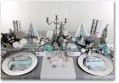 Tischdeko Weihnachten in Mint