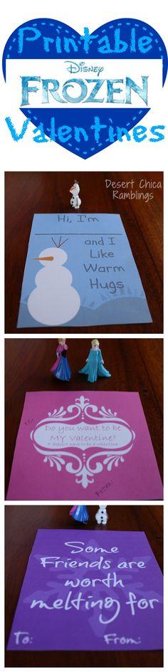 Printable Frozen Valentines