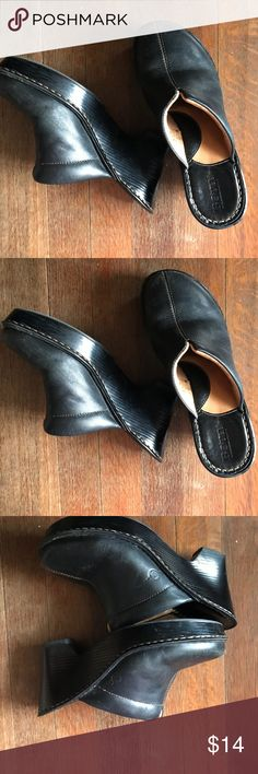 Born leather Clogs Good condition Leather with rubber sole Born Shoes Mules & Clogs