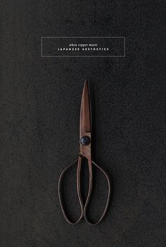 We love the simple aesthetic and copper colour of these Japanese scissors. Web Design, Layout Design, Design Art, Print Design, Design Ideas, Book Cover Design, Book Design, Design Poster, Art Graphique