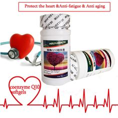 16 bottles/lot coenzyme q10 Softgel Capsules for anti-aging protect skin and heart