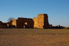 """Kasbah ruins (""""القصبة"""" Qassabah) in Sous valley -    The Sous or Souss (Berber: Tamazirt n Sus, Arabic بلاد السوس bilād as-Sūs) is a region in southern Morocco. Geologically, it is the all..."""