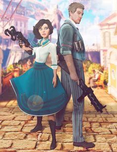 Infinite by Jay-Kennedy Bioshock 2, Bioshock Series, Bioshock Infinite Elizabeth, Princess Mononoke, Gurren Lagann, Final Fantasy Vii, Fantasy World, Sword Art Online, Humor