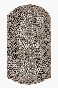 Aurelie Bidermann Silver-plated Lace Cuff for women   SSENSE