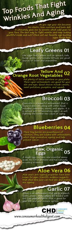 Top Foods That Fight Wrinkles and Aging